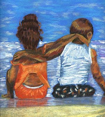 Drawing - Bff's by Phyllis Anne Taylor Pannet Art Studio