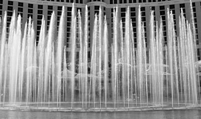 Photograph - Bellagio Fountains Work A by David Lee Thompson
