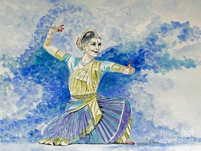 Bharatanatyam Painting - Bharatanatyam Dancer by Studio A