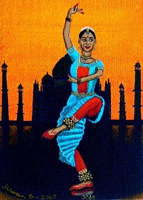 Bharatanatyam Painting - Bharatanatyam by Mareen Haschke