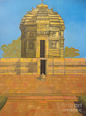 Painting - Bhaskareshwar- Shiva Temple by Pratyasha Nithin