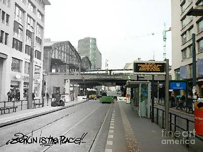 Bhf. Friedrichstrasse  - Berlin Is The Place...series Art Print by Color and Vision