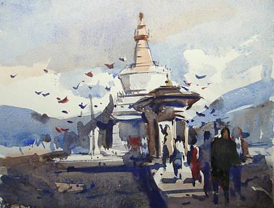 Bhutan Painting - Bhutan by Anisur Rahman