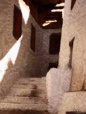 Bhutan Painting - Bhutan Stairwell by Judith Kitzes