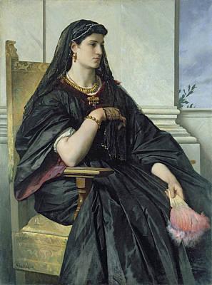 Bianca Capello, 186468 Oil On Canvas Art Print