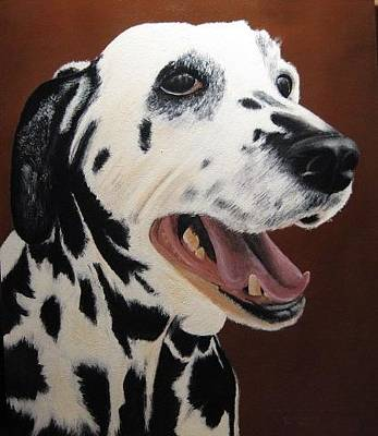 Painting - Bianca Rob's Dalmatian by Lorraine Bradford
