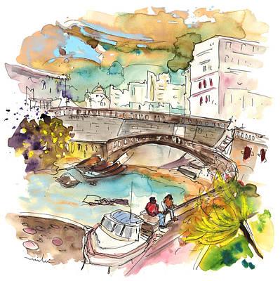 Bay Bridge Drawing - Biarritz 15 by Miki De Goodaboom