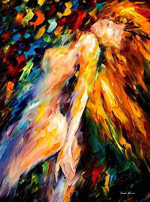 Bias - Palette Knife Oil Painting On Canvas By Leonid Afremov Original by Leonid Afremov