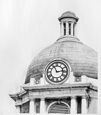 Macon Drawing - Bibb Courthouse 2 by Danyelle McDow