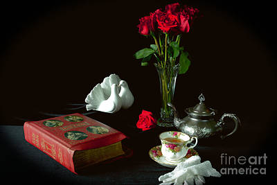 Photograph - Bible And Roses by Sarah Schroder