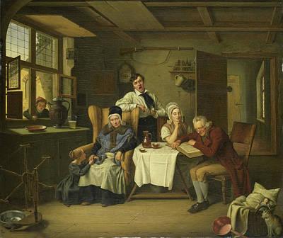 Bible Reading, Eduard Karl Gustav Lebrecht Pistorius Art Print