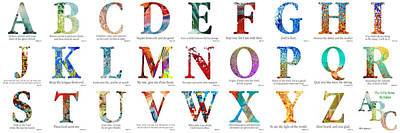 Bible Verse Alphabet Poster Art Print by Mark Lawrence