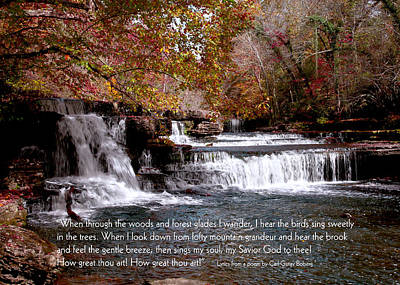 Bible Verse Photograph - Bible Verse And Inspirational Greeting Card Autumn Fine Art Photography Prints And Posters. by Jerry Cowart