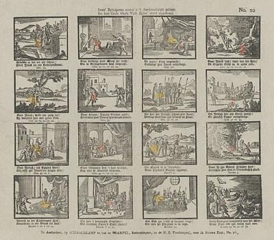 Scripture Drawing - Biblical Print. Deez Bybelprent Toond U T Aardsvaderlyk by Schalekamp & Van De Grampel And Jacobus Wendel And Anonymous
