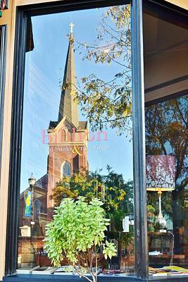 Photograph - Biblion Used Books Reflections 3 - Lewes Delaware by Kim Bemis