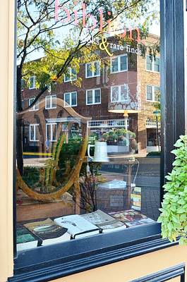 Photograph - Biblion Used Books Reflections 4 - Lewes Delaware by Kim Bemis
