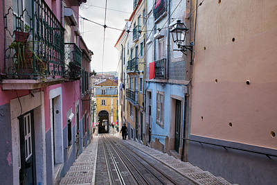 Funicular Photograph - Bica Funicular In Lisbon by Artur Bogacki