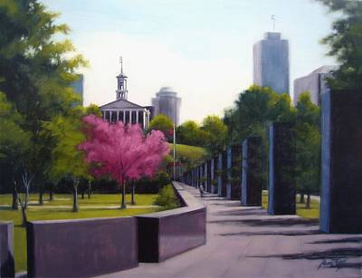 Nashville Park Painting - Bicentennial Capital Mall Park by Janet King