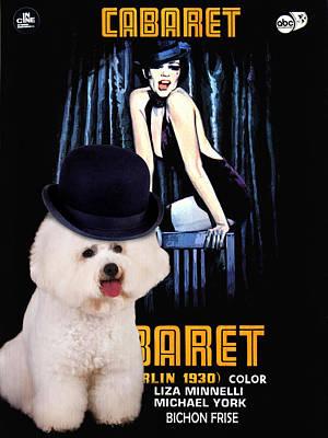 Bichon Frise Art - Cabaret Movie Poster Art Print
