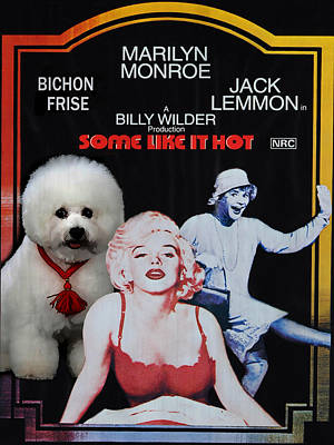 Bichon Frise Art- Some Like It Hot Movie Poster Original by Sandra Sij