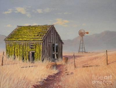 Painting - Bickelton Barn by Paul K Hill