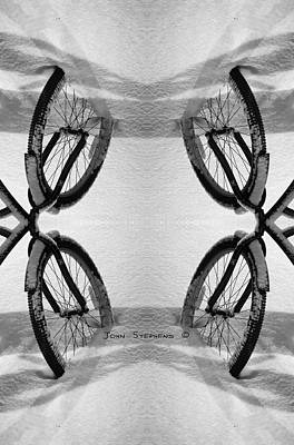 Photograph - Bicycle Abstract by John Stephens