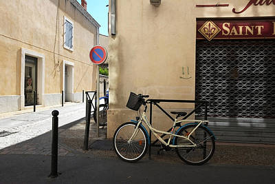 Art Print featuring the photograph Bicycle Aigues Mortes France by John Jacquemain
