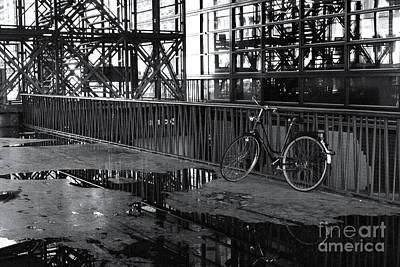 Art Print featuring the photograph Bicycle Alone by Maja Sokolowska