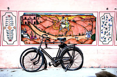 Photograph - Bicycle And Camel by Rick Bragan