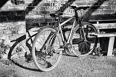 Photograph - Bicycle And Shadows by Jutta Maria Pusl