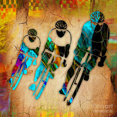 Mixed Media - Bicycle Art by Marvin Blaine