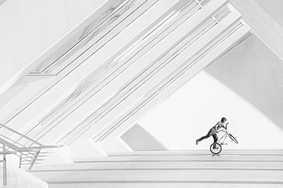 Action Lines Photograph - Bicycle Art by Piet Haaksma