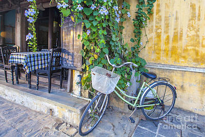 Photograph - Bicycle At The Hoi An Cafe by Jo Ann Tomaselli