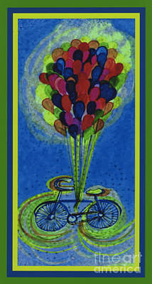 Mixed Media - Bicycle Balloons By Jrr by First Star Art
