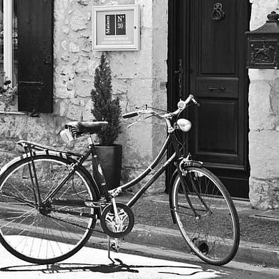 Cycling Wall Art - Photograph - #bicycle #bike #france by Georgia Fowler