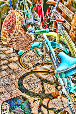 Photograph - Bicycle Blue By Diana Sainz by Diana Raquel Sainz