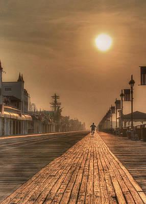 Ocean City Nj Photograph - Bicycle Boardwalk by Lori Deiter