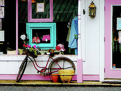 Photograph - Bicycle By Antique Shop by Susan Savad