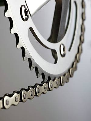 Component Photograph - Bicycle Chain And Crank by Science Photo Library
