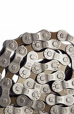 Bicycle Chain Coiled Up Print by Science Photo Library