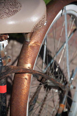 Photograph - Bicycle Close Up 1 by Susan OBrien