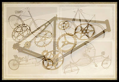 Daysray Photograph - Bicycle Collage by Fran Riley
