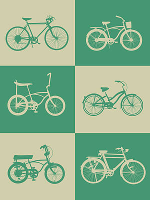 Bicycling Digital Art - Bicycle Collection Poster 4 by Naxart Studio