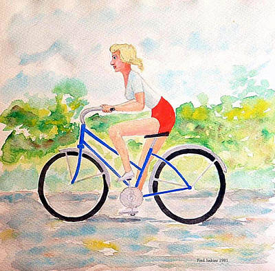 Bicycle Art Print by Fred Jinkins