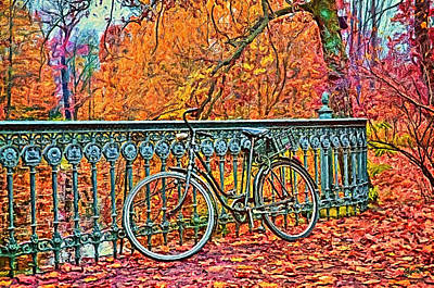 Painting - Bicycle by Gynt