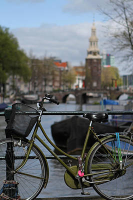 Photograph - Bicycle In Amsterdam by Juergen Roth