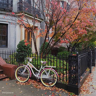 Photograph - Bicycle In Autumn by Brian McWilliams