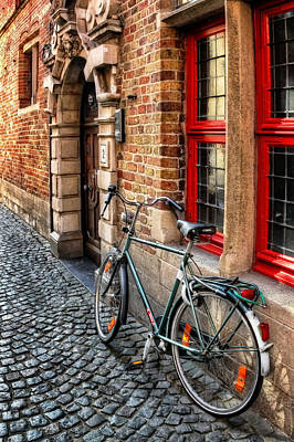 Belgian Photograph - Bicycle In Bruges by Carol Japp