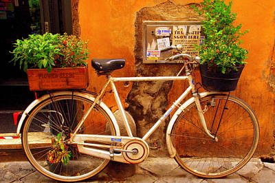 Bicycle In Rome Art Print by Caroline Stella