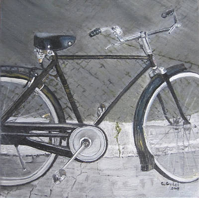 Painting - Bicycle In Rome by Claudia Goodell